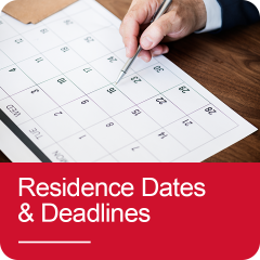Click to go to Residence Dates and Deadlines