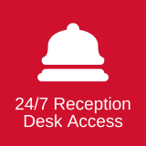 24/7 Reception Desk Access